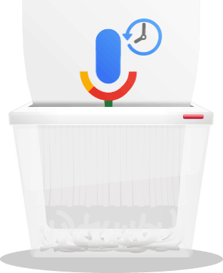How to delete google voice history banner icon