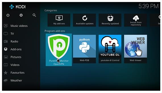 Get Kodi VPN Add-on