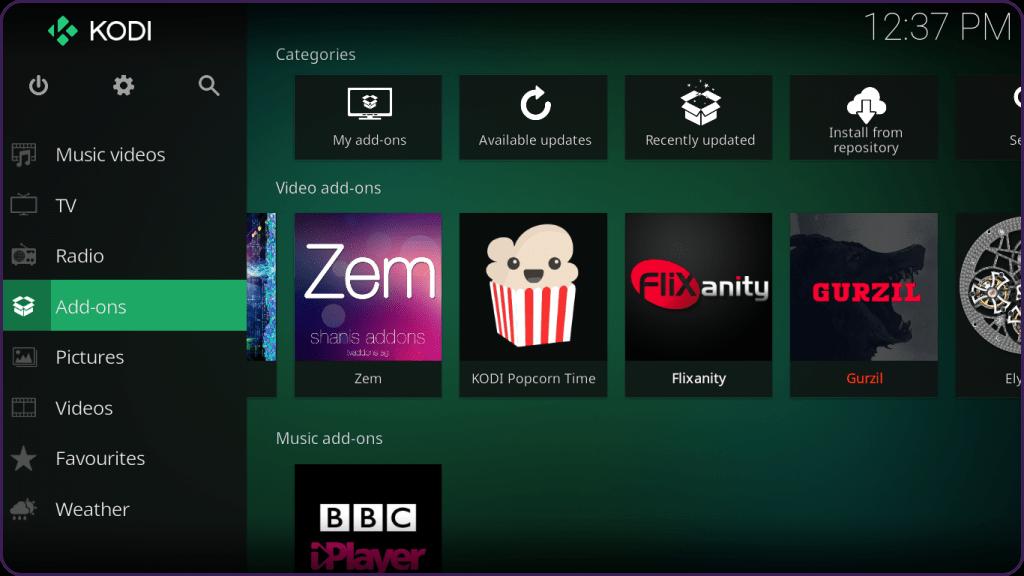 BCC iPlayer TV KodiStep 10