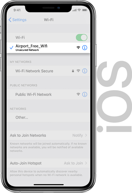 Amsterdam Airport Wifi IOS