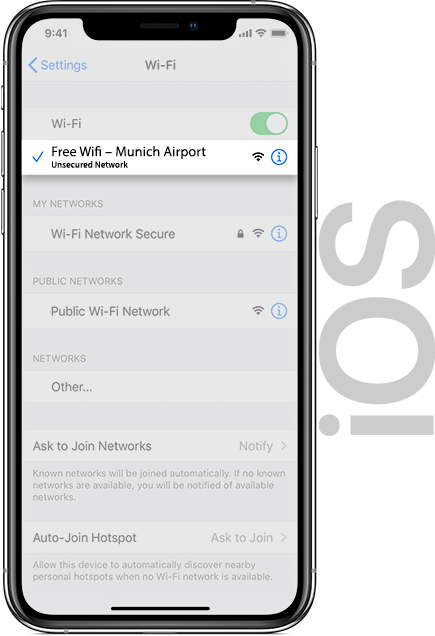 Munich Airport Wifi IOS
