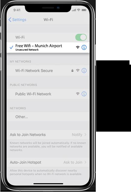 Munich Airport Wifi IOS