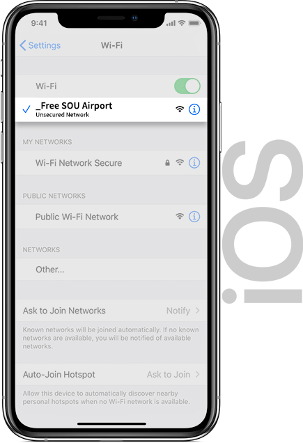 Southampton Airport Wifi IOS