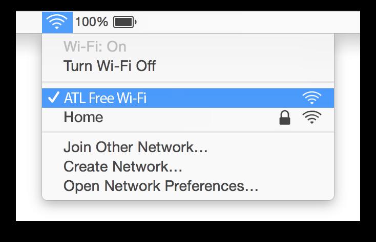 Atlanta Airport Wifi Mac