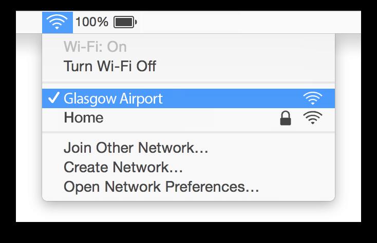 Glasgow Airport Wifi Mac