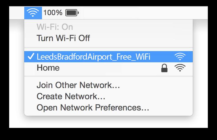 Leeds Bradford Airport Wifi Mac