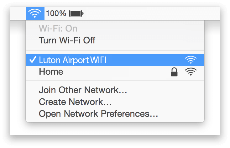 Luton Airport Wifi Mac