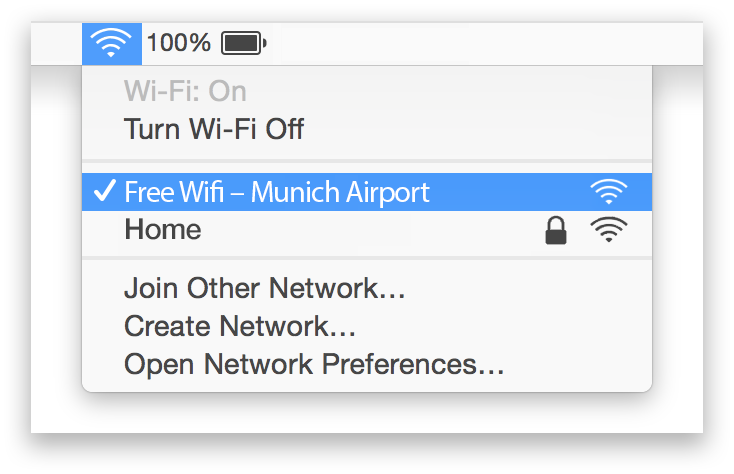 Munich Airport Wifi Mac