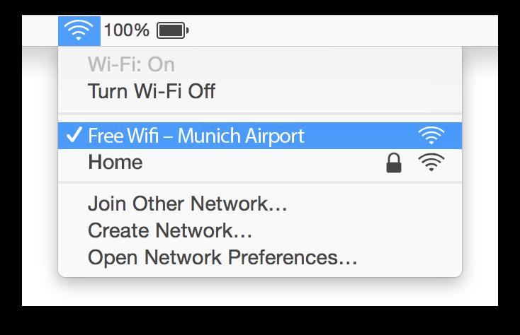 Munich Airport Wifi Mac