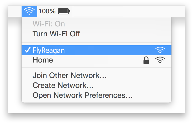 Reagan WiFi Mac