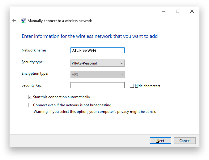 Atlanta Airport Wifi Windows