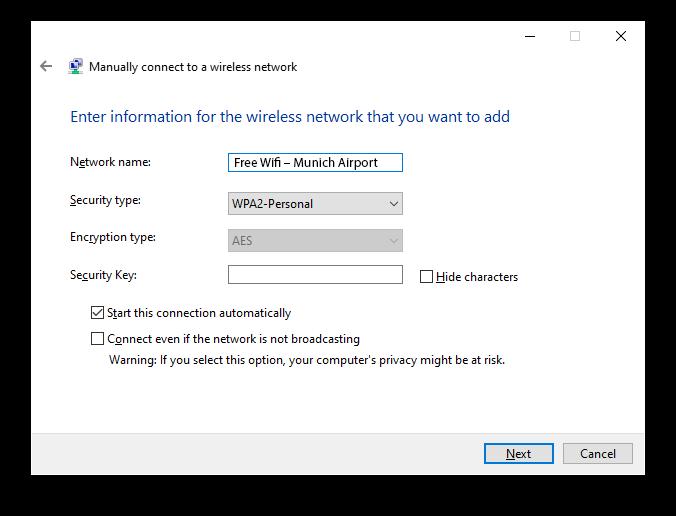 Munich Airport Wifi Windows