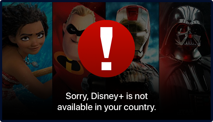 Sorry, Disney plus is not Available in your Country