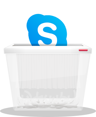how to delete skype account icon image