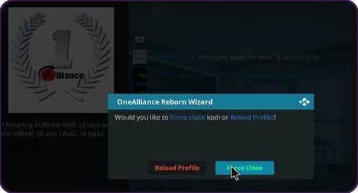 Install One Alliance Reborn Kodi Builds