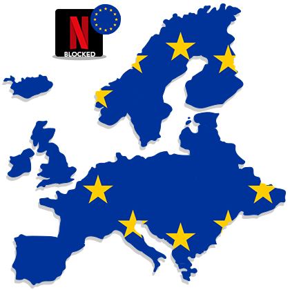 Access US Netflix in Europe